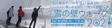 雪の壁ウォーク2021