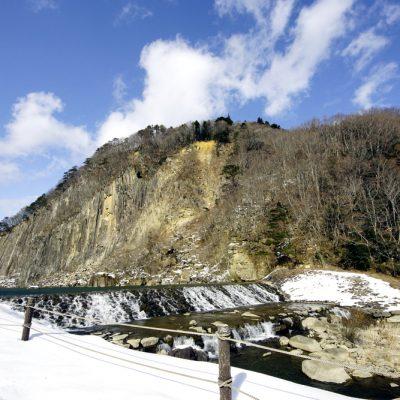 冬の材木岩公園